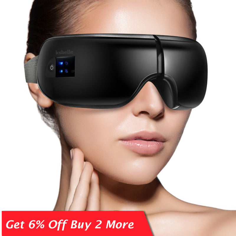 Wireless Eye Massager Air Compression Eye Massage with Music Smart Vibrating Eye Massagers Heated Goggles Anti Wrinkles Eye Care