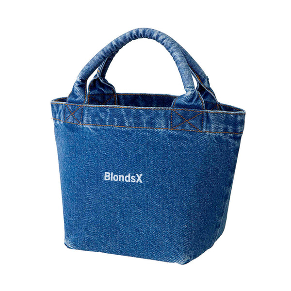 Classic Logo Denim Lunch Tote Bag
