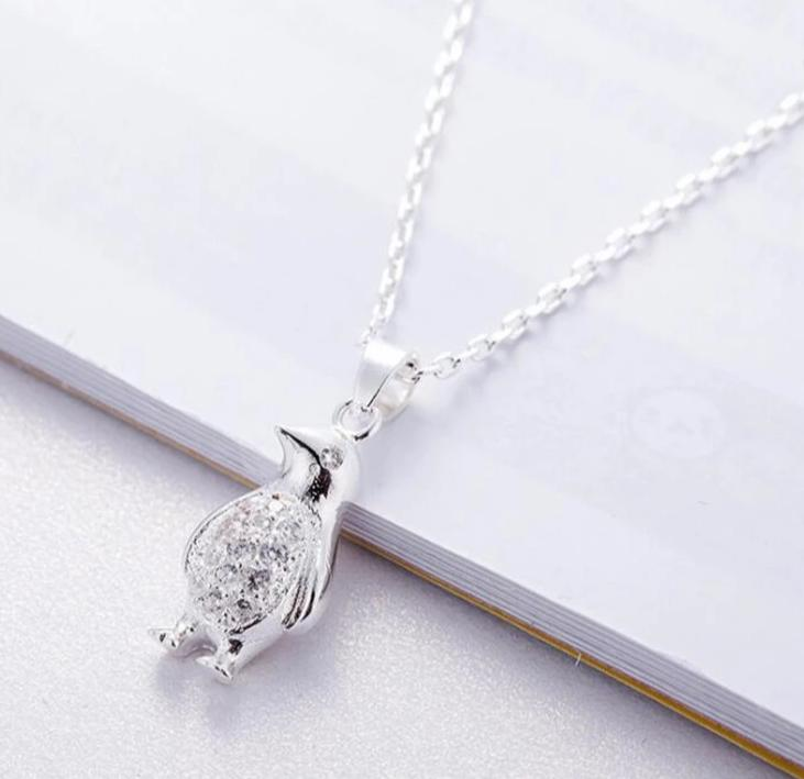 925 Sterling Silver Little Penguin Necklace