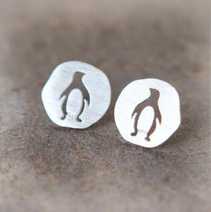Cutout Penguin Stud Earrings