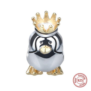 925 Sterling Silver King Penguin Charm