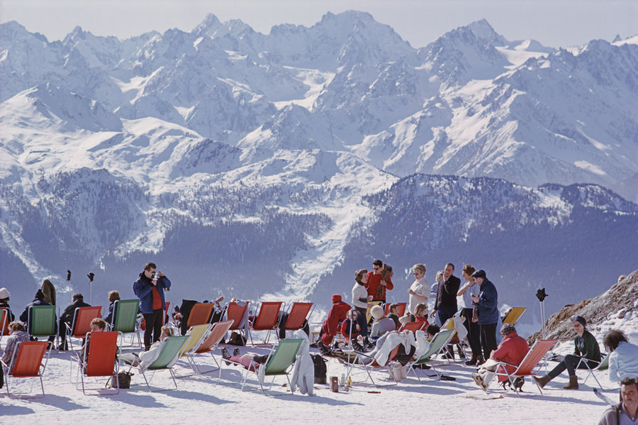 Slim Aarons Lounging in Verbier - The Hackney Emporium