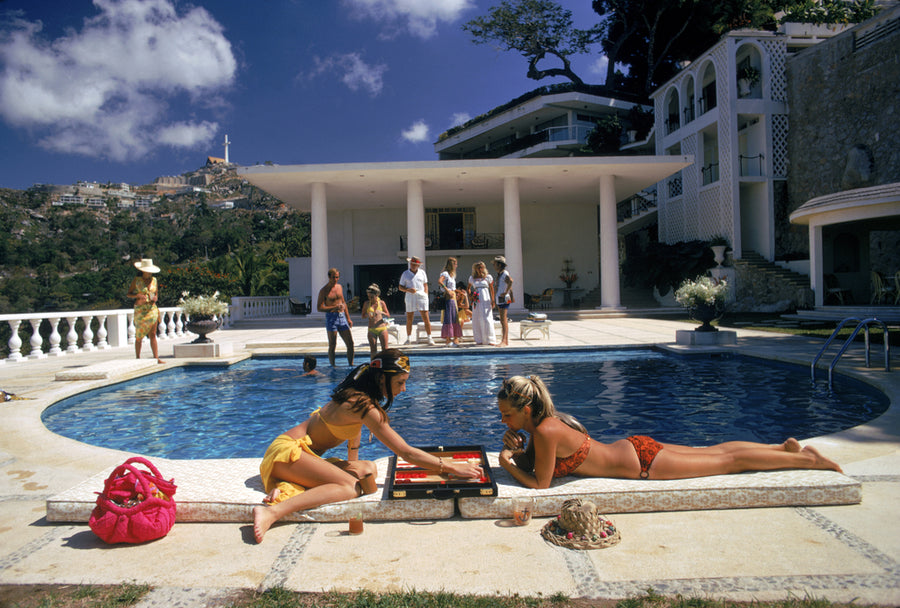 Slim Aarons Poolside Backgammon - The Hackney Emporium