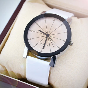 Luxury Quartz & Leather Wrist Watch | Round Case