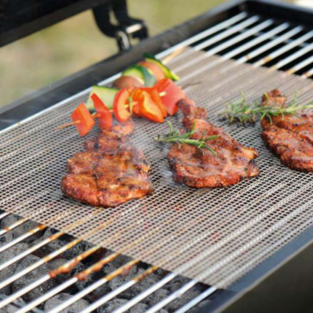 Non Stick BBQ Mesh Grill Mat | Cooking Sheet | Barbecue Liner |  30x40cm