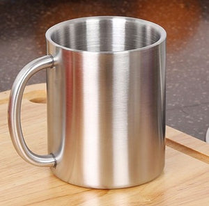 Milk And Coffee Mugs | Thickened Double Wall Stainless Steel | Copper and Gold Look