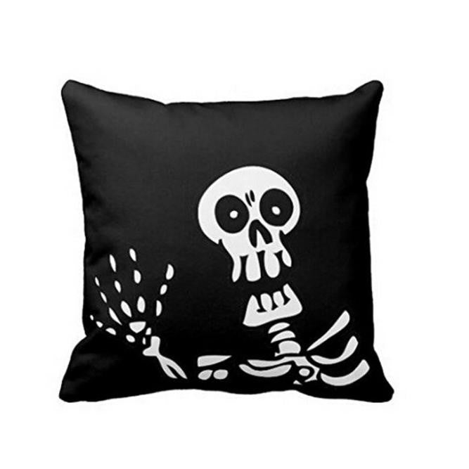 Halloween Skeleton Skull Pillow Case Cover