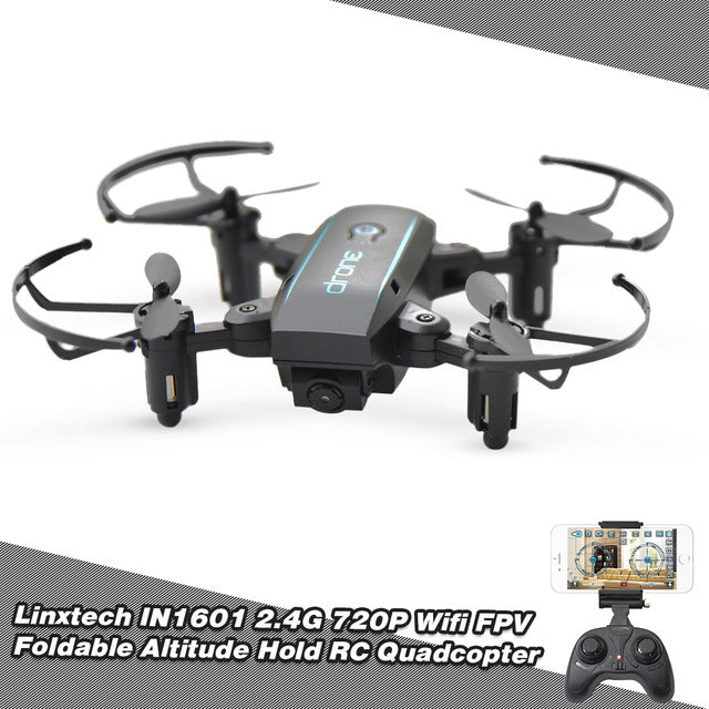 2.4G 720P Mini RC Drone with Camera | Wifi FPV Foldable | Altitude Hold Quadcopter | with Remote Control