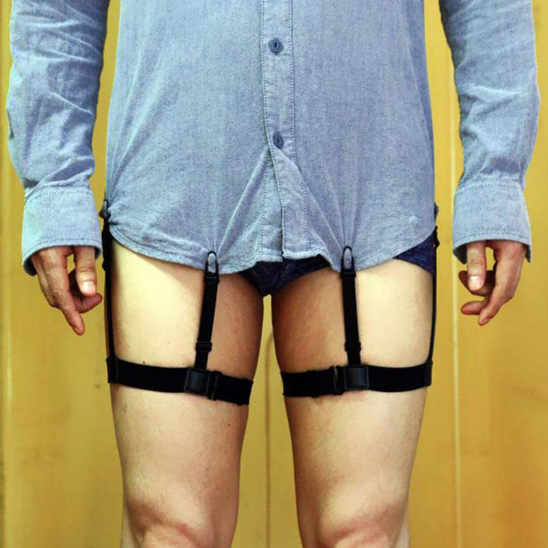 Shirt Garters | Elastic Nylon Adjustable Shirt Holders | Shirt Stirrup Style Suspenders
