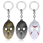 Friday The 13th Keychain | Jason Voorhees Mask Keyrings