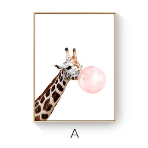 Toiles Bubble Gum Animals