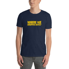 Where We Droppin Boys T-Shirt - Fortnite