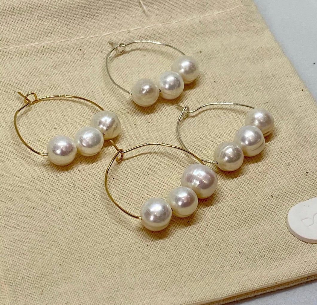 Fleur Pearl Earrings