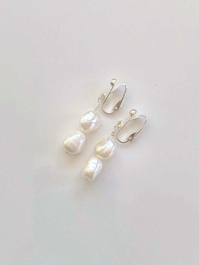Julia Clip on Pearls