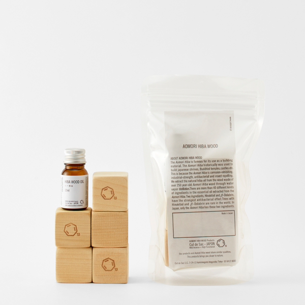 【Cul de Sac - JAPON】HIBA BLOCKS +HIBA WOOD OIL ヒバブロック+ヒバ精油