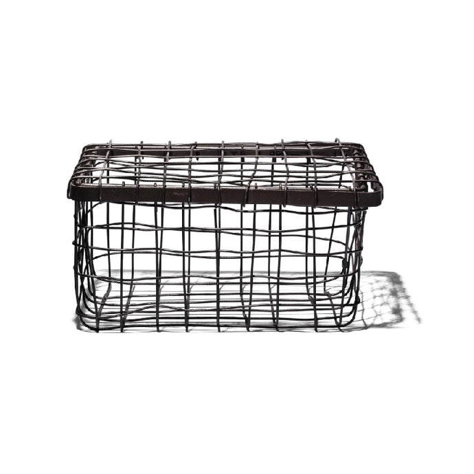 【PUEBCO INC.】WIRE BASKET WITH LID 鋼線收納籃 附蓋