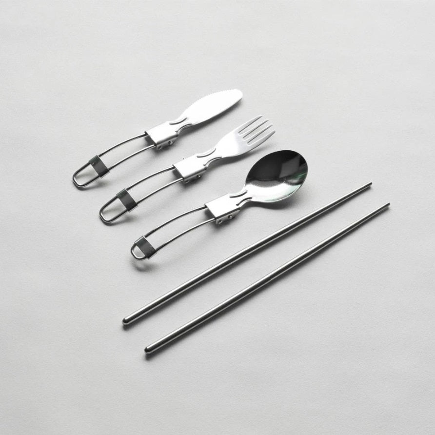 【Slowood】可摺疊餐具套裝 Portable Stainless Steel Cutlery Set