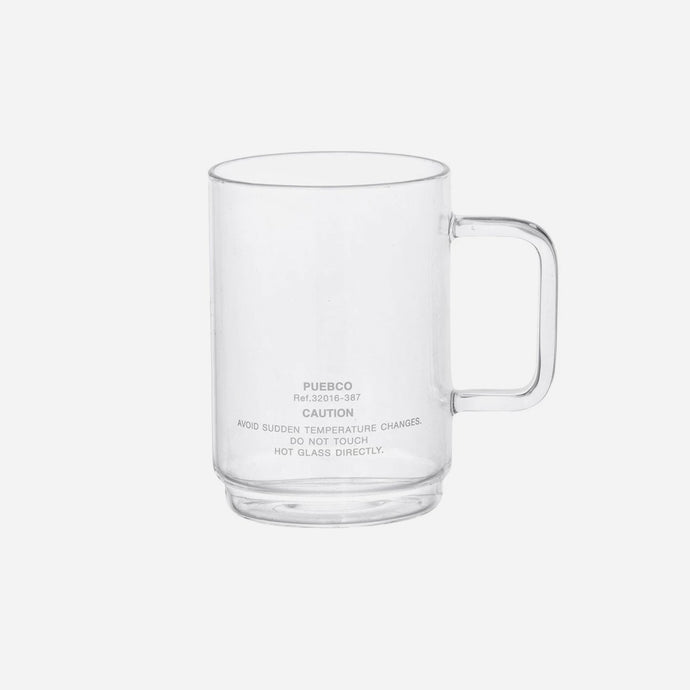 【PUEBCO INC.】BOROSILICATE GLASS MUG Shallow Stacking 玻璃馬克杯 340ml