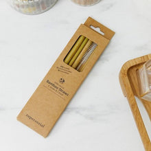 Load image into Gallery viewer, 【Zuperzozial】Bamboo Straws Reusable Set/ 6+Brush