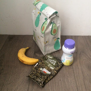 Oilcloth lunch bag - Avocado