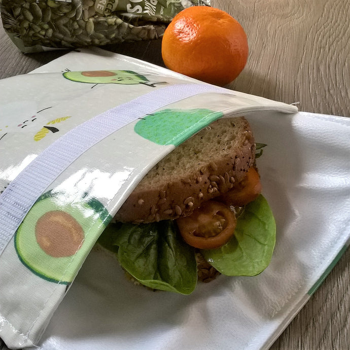 WHOLESALE Oilcloth sandwich pouch with food safe Procare lining