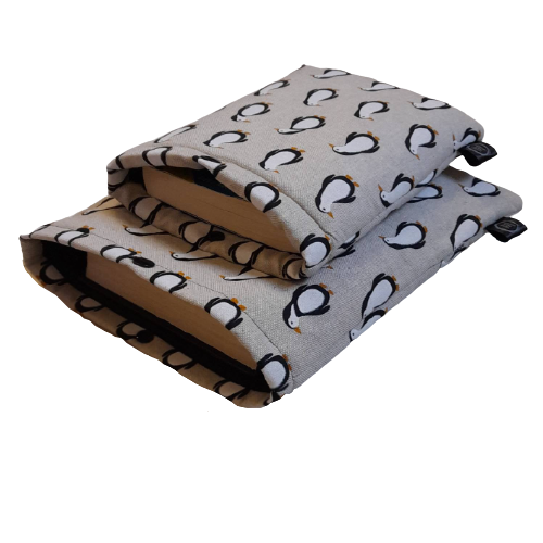 Penguins fabric book and tablet sleeve