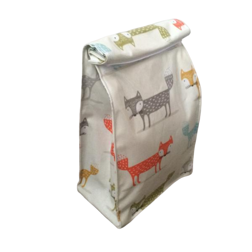 Oilcloth lunch bag -  Foxes