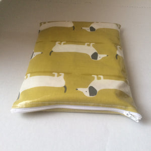 Oilcloth Book bag - Dachshund