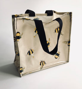 Oilcloth tote bag - double handle - different designs