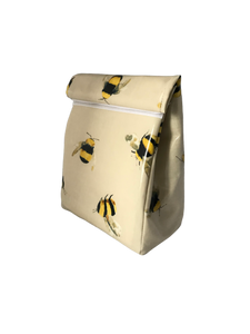 Oilcloth lunch bag - bees