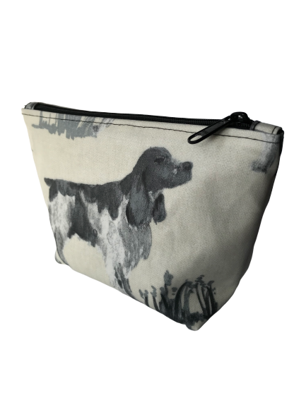 Working dogs - hound - Oilcloth cosmetic / toiletry bag