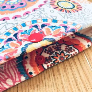 Mandala pattern Book Sleeve /  Ipad Sleeve / Tablet Sleeve