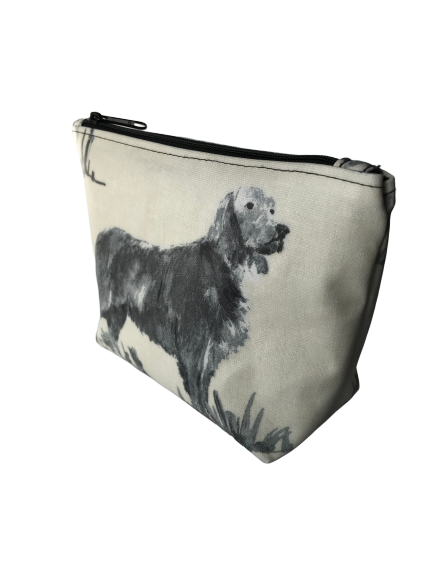 Working dogs pattern matt oilcloth cosmetic/toiletry bag