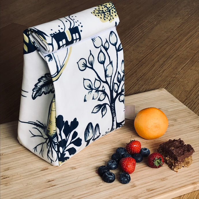 Oilcloth lunch bag - Veg patch