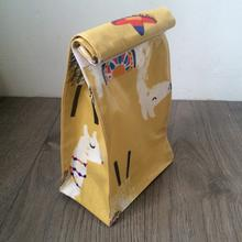 WHOLESALE Oilcloth lunch bag - llama