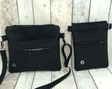 Dog walking bag - black waterproof canvas