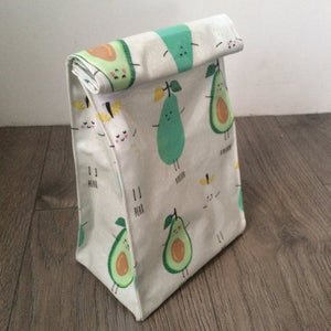 WHOLESALE Oilcloth lunch bag - Avocado & Pear
