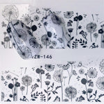 Blooming Flower (and more) Water Transfer Nail Art Decorations (10+ models) - Top E-Shop