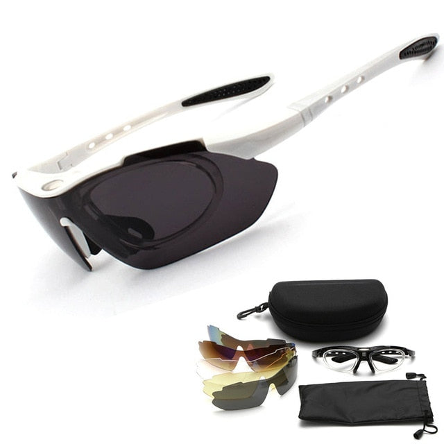 Polarized Sport Sunglasses Men Plus 5 Lens - Top E-Shop