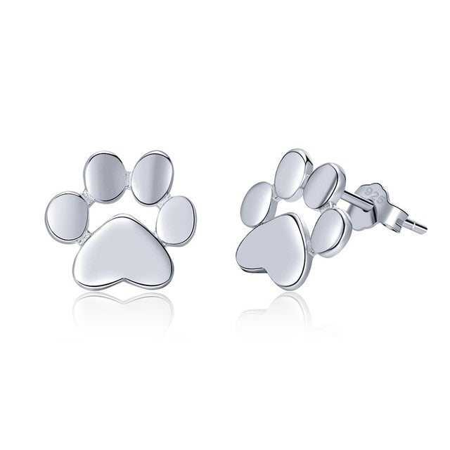 BAMOER 925 Sterling Silver Animal Footprints Earrings - Top E-Shop