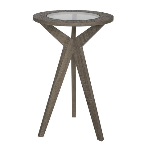 Erin Plant Stand Oak Style Veneer and Glass Top
