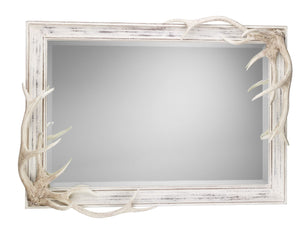 Antler Bevelled Mirror Distressed Finish