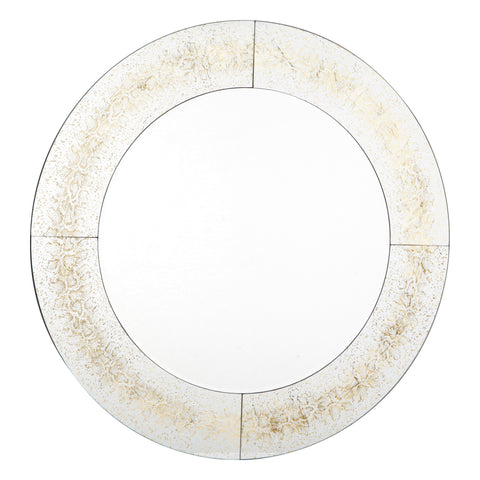 Ophidian Round Gold Snake Skin Effect Mirror