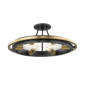CHAMBERS FLUSH MOUNT 2721-AOB-CE Hudson Valley Lighting