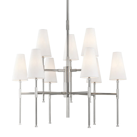 Bowery CHANDELIER 3734-PN-CE Hudson Valley Lighting
