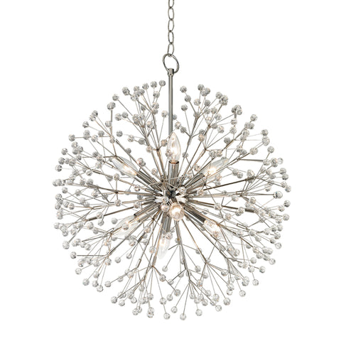 Dunkirk Crystal Chandelier 6020-PN-CE Hudson Valley Lighting
