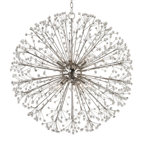 Dunkirk Crystal Chandelier 6030-PN-CE Hudson Valley Lighting