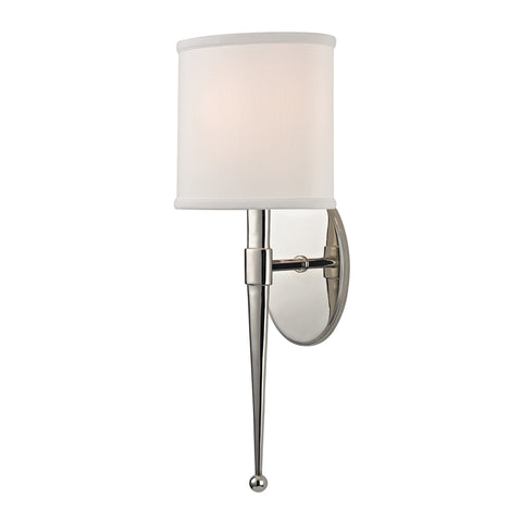 Madison WALL SCONCE 6120-PN-CE Hudson Valley Lighting
