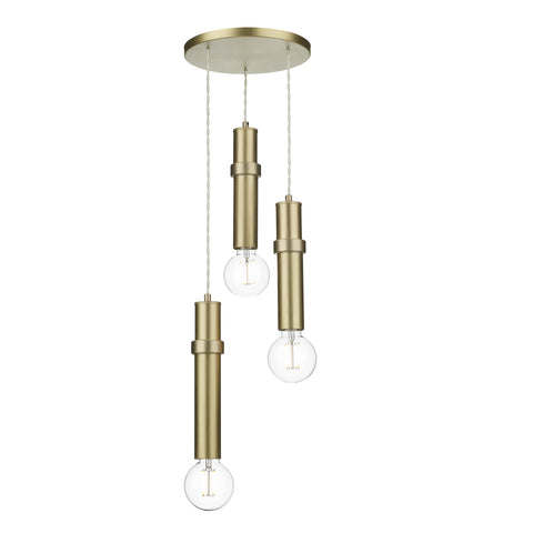 The Adling Triple Pendant Butter Brass ADL0340