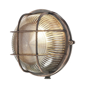 Admiral Round Bulkhead Antique Copper ADM5064 - The Light Company